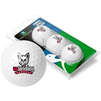 South Dakota Coyotes 3 Golf Ball Sleeve Pack