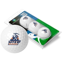 UTEP Miners 3 Golf Ball Sleeve Pack