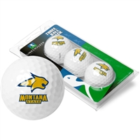 Montana State Bobcats 3 Golf Ball Sleeve Pack