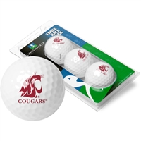 Washington State Cougars 3 Golf Ball Sleeve Pack