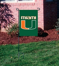 Miami Hurricanes Garden Mini Window Flag