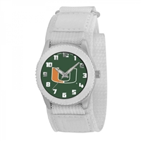 Miami Hurricanes NCAA Kids Rookie Series Watch (White)