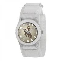 Wyoming Cowboys NCAA Kids Rookie Series Watch (White)