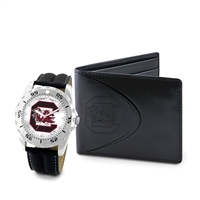 South Carolina Gamecocks NCAA Men's Watch & Wallet Set