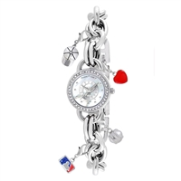 Texas Rangers MLB Women's Charm Series Watch