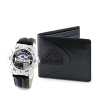 Colorado Rockies MLB Men's Watch & Wallet Set