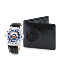 New York Mets MLB Men's Watch & Wallet Set