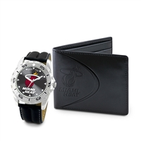 Miami Heat NBA Men's Watch & Wallet Set