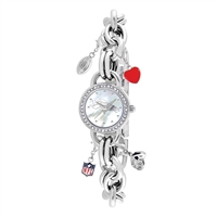 Denver Broncos NFL Women's Charm Series Watch