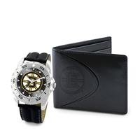 Boston Bruins NHL Men's Watch & Wallet Set