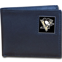 NHL Bifold Wallet in Tin - Pittsburgh Penguins