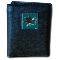 NHL Trifold Wallet in Tin - San Jose Sharks