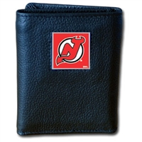 NHL Trifold Wallet in Box - New Jersey Devils