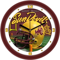 "Arizona State Sun Devils 12"" Football Helmet Wall Clock"