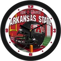 "Arkansas State Red Wolves 12"" Football Helmet Wall Clock"
