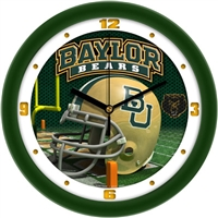 "Baylor Bears 12"" Football Helmet Wall Clock"