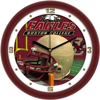 "Boston College Eagles 12"" Football Helmet Wall Clock"