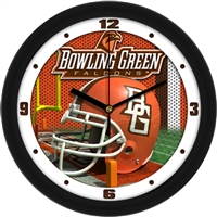 "Bowling Green Falcons 12"" Football Helmet Wall Clock"