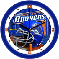 "Boise State Broncos 12"" Football Helmet Wall Clock"