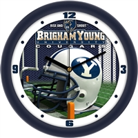 "Brigham Young (BYU) Cougars 12"" Football Helmet Wall Clock"