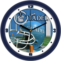 "Citadel Bulldogs 12"" Football Helmet Wall Clock"