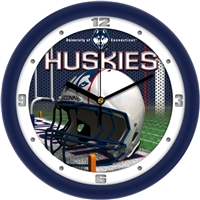 "Connecticut Huskies 12"" Football Helmet Wall Clock"
