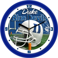 "Duke Blue Devils 12"" Football Helmet Wall Clock"