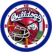 "Fresno State Bulldogs 12"" Football Helmet Wall Clock"