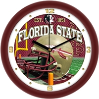 "Florida State Seminoles 12"" Football Helmet Wall Clock"
