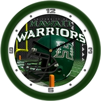 "Hawaii Warriors 12"" Football Helmet Wall Clock"