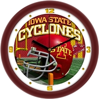 "Iowa State Cyclones 12"" Football Helmet Wall Clock"