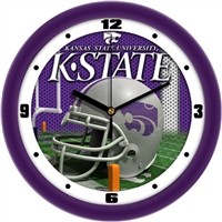 "Kansas State Wildcats 12"" Football Helmet Wall Clock"