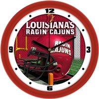 "Louisiana Lafayette (ULL) Ragin' Cajuns 12"" Football Helmet Wall Clock"