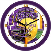 "Louisiana State LSU TIgers 12"" Football Helmet Wall Clock"