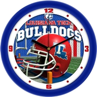 "Louisiana Tech Bulldogs 12"" Football Helmet Wall Clock"
