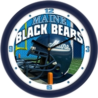 "Maine Black Bears 12"" Football Helmet Wall Clock"