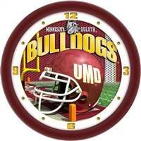 "Minnesota Duluth Bulldogs 12"" Football Helmet Wall Clock"