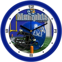 "Memphis Tigers 12"" Football Helmet Wall Clock"