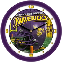 "Minnesota State Mavericks 12"" Football Helmet Wall Clock"