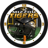 "Missouri Tigers 12"" Football Helmet Wall Clock"
