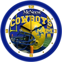 "McNeese State Cowboys 12"" Football Helmet Wall Clock"
