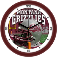 "Montana Grizzlies 12"" Football Helmet Wall Clock"