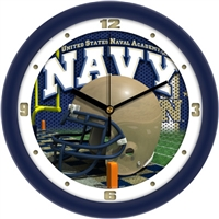 "US Naval Academy 12"" Football Helmet Wall Clock"