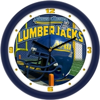 "Northern Arizona Lumberjacks 12"" Football Helmet Wall Clock"
