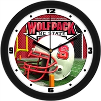 "North Carolina State (NC State) Wolfpack 12"" Football Helmet Wall Clock"