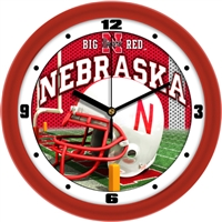"Nebraska Cornhuskers 12"" Football Helmet Wall Clock"
