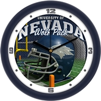 "Nevada Wolf Pack 12"" Football Helmet Wall Clock"