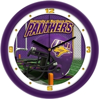 "Northern Iowa Panthers 12"" Football Helmet Wall Clock"