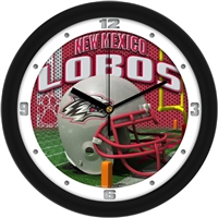 "New Mexico Lobos 12"" Football Helmet Wall Clock"