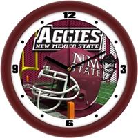 "New Mexico State Aggies 12"" Football Helmet Wall Clock"